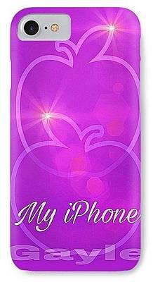 Digital Art - My Iphone N Mauve by Gayle Price Thomas