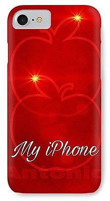Digital Art - My Iphone N Red by Gayle Price Thomas