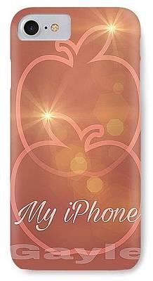 Digital Art - My Iphone N Rosetone by Gayle Price Thomas