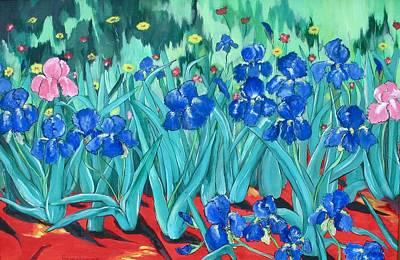 My Irises Art Print by Barbara Remensnyder