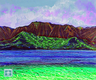 My Island Design  Art Print by Debbie Chamberlin
