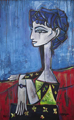 Painting - My Jacqueline by Laurie Maves ART