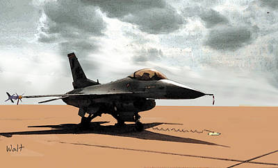 My Jet Art Print by Walter Chamberlain