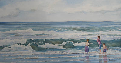 Boys Swimming Painting - My Kind Of Beach Boys by Jenny Armitage