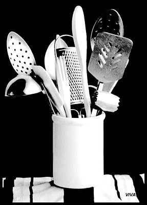 Photograph - My Kitchen Aids B-w by VIVA Anderson