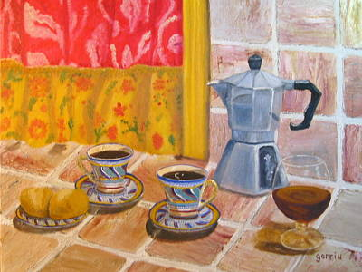 Snifter Painting - My Kitchen Cafe by Roger E Gorrin