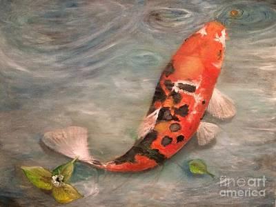 Jenna Thomas Wall Art - Painting - My Koi by Jennifer Thomas