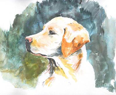 Labrador Retreiver Painting - My Lab by Debora Cardaci