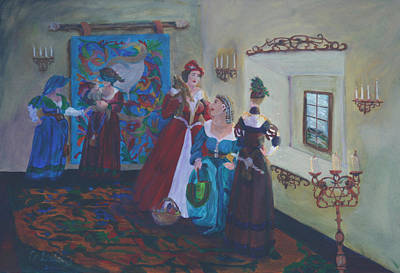 Gail Daley Wall Art - Painting - My Lady's Solar by Gail Daley
