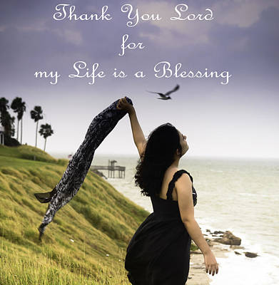 My Life A Blessing Art Print
