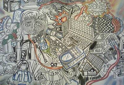 Whare Drawing - My Life In Cubism by Savana Smith