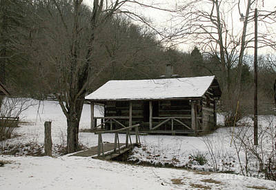 Photograph - My Lil Cabin Home On The Hill In Winter by Melissa  Mim Rieman