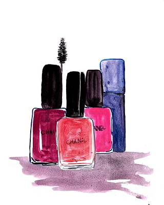 For Salons Painting - My Little Bottles by Sweeping Girl