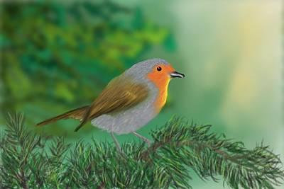 My Little Chickadee Art Print by Harry Dusenberg
