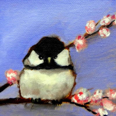 Painting - My Little Chickadee by Katy Hawk