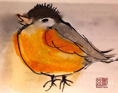 Painting - My Little Chickadee by Margaret Welsh Willowsilk