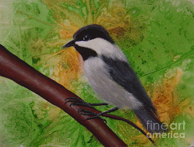 Painting - My Little Chickadee by Teresa Boston