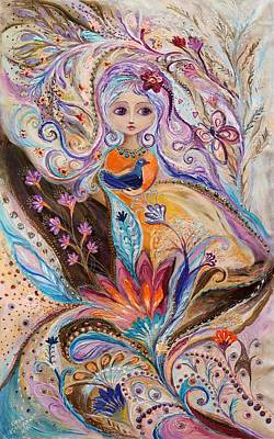 Big Eyed Girl Painting - My Little Fairy Olivia by Elena Kotliarker