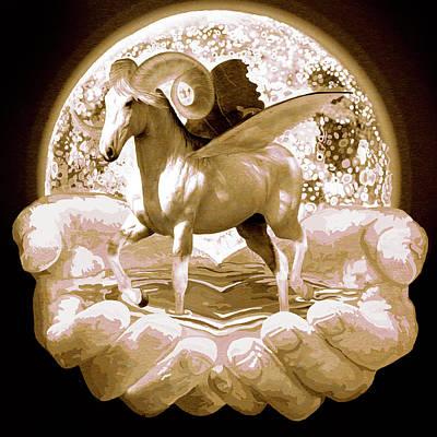 Pegasus Digital Art - My Little Pony by Kd Neeley