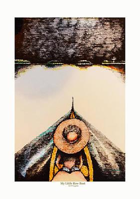 Row Boat Digital Art - My Little Row Boat by C F  Legette