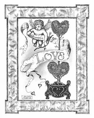 Paper Images Drawing - My Love by Adam Zebediah Joseph