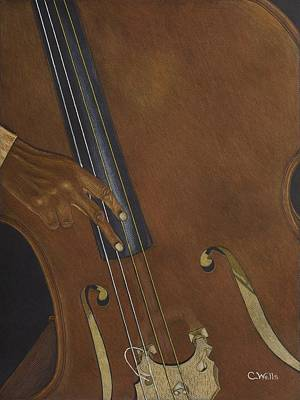 Drawing - My Low Bass by Cedric Wells
