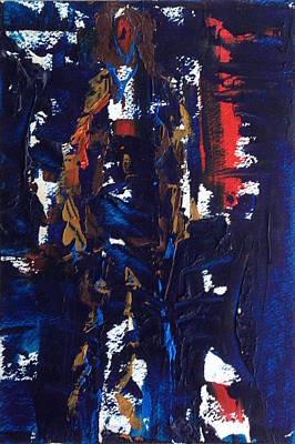 Modern Feathers Art - My Madonna by Roger Cummiskey