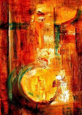 Painting - My Mandolin Sketch by VIVA Anderson