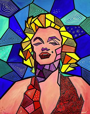 Painting - My Marilyn by Marconi Calindas