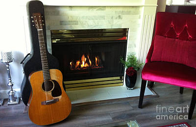 Photograph - My Martin By The Fire by Rod Jellison