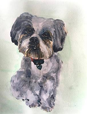 Painting - My Milo by Kate Byrne my dau