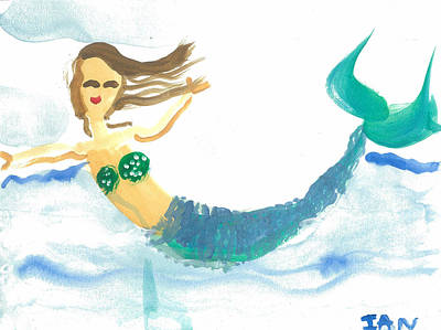Painting - My Mommy's Mermaid by Ian Reynolds