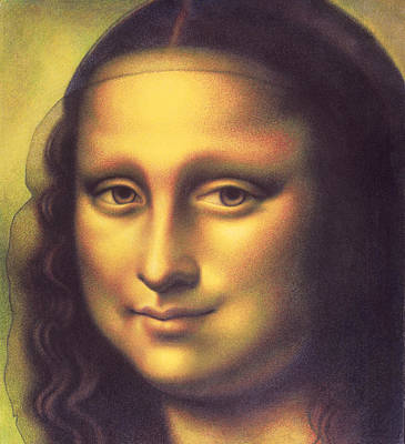 Drawing - My Mona Lisa by Donna Basile