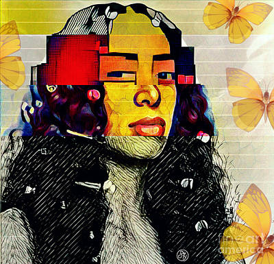 Solange Digital Art - My Mona Lisa by Shonte Young