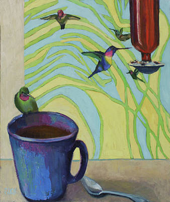 Wall Art - Painting - My Morning by Leslie Rock