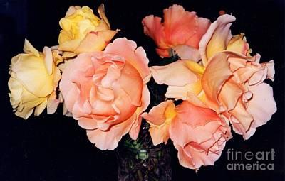 My Mothers Roses Art Print by Jane Gatward