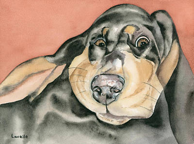 Animal Portrait Painting - My Muse by Kimberly Lavelle