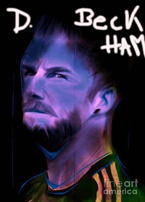 My Name Is David Beckham In Soccer Dress Original by Felix Von Altersheim