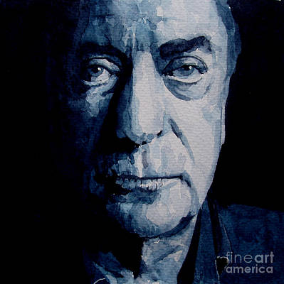 Watercolor Portraits Painting - My Name Is Michael Caine by Paul Lovering