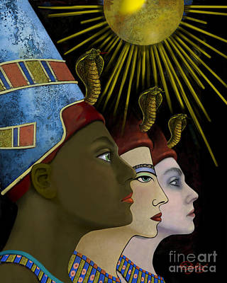 Digital Art - My Name Is Nefertiti. My Name by Carol Jacobs