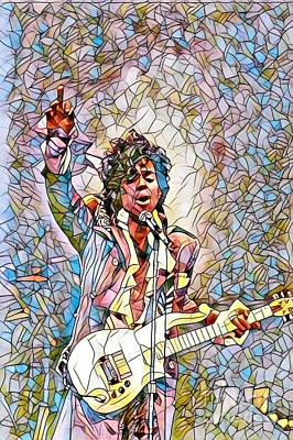 Overdose Digital Art - My Name Is Prince - Stained Glass by Scott D Van Osdol