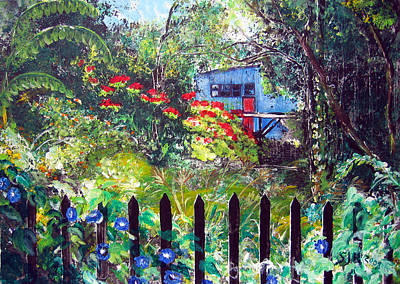 My Neighbors Garden Art Print by Sarah Hornsby