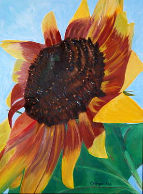 Painting - My Neighbor's Sunflower by Calliope Thomas