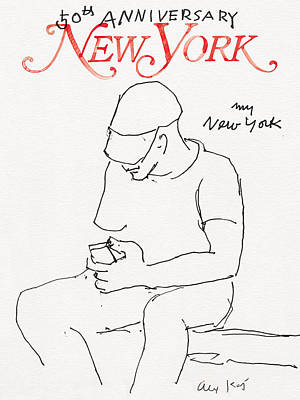 Times Square Drawing - My New York by Alex Katz