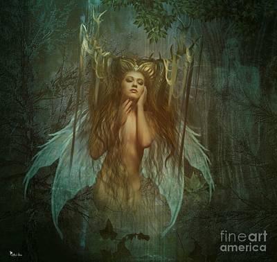 Digital Art - My Night Spirit by Ali Oppy