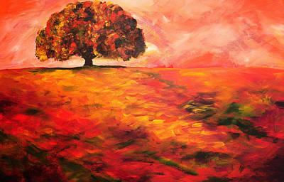 My Oak Tree Art Print by Mary Jo Zorad
