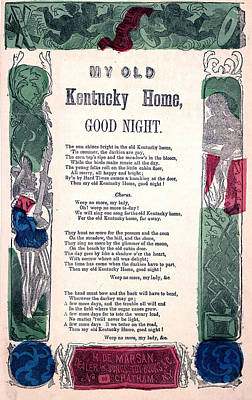 Photograph - My Old Kentucky Home, Good Night by Everett
