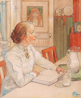 Painting - My Oldest Daughter by Carl Larsson
