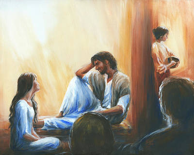 At Jesus Feet Painting - My One And Only by Pennie Strople