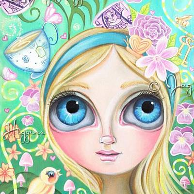 My Original alice In Pastel Land Art Print